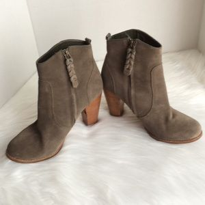 Joie Leather Leather Suede bootie